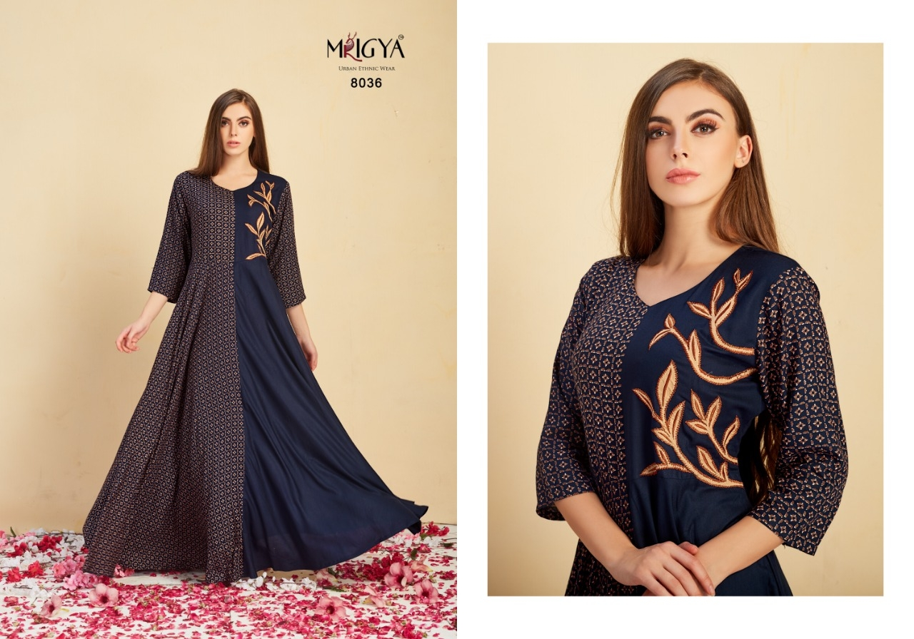 Attitude Vol 2 beautiful long gown style kurtis collection ... 2ea49380d