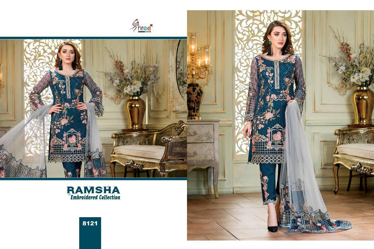 8658721d96 SHREE FABS RAMSHA GEORGETTE EMBROIDERY COLLECTION OF SALWAR SUIT ...
