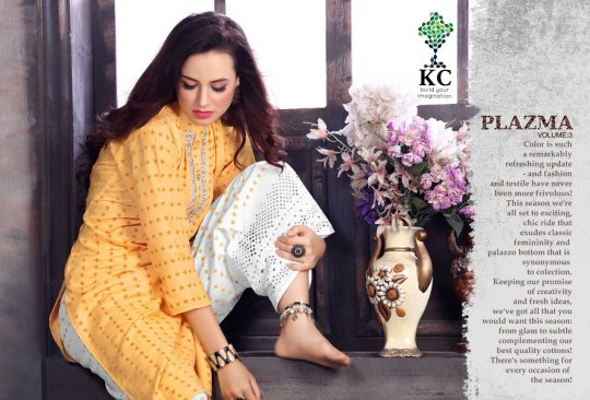 577aaadac1 KC LAUNCH PLAZMA VOL 3 KURTI WITH PALAZZO ETHNIC LADIES COLLECTION AT BEST  PRICE ONLINE