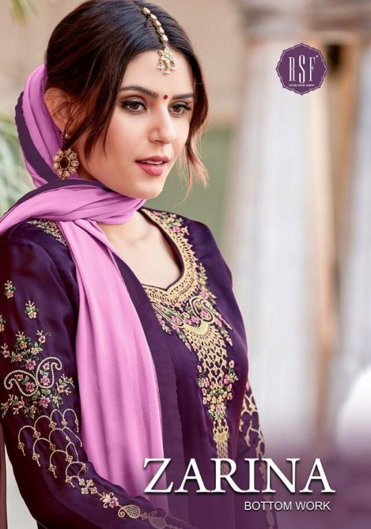 468c5dd50c ZARINA BY RSF SATIN GEORGETTE LONG SUIT WITH HANDWORK COLLECTION SURAT  TRADER