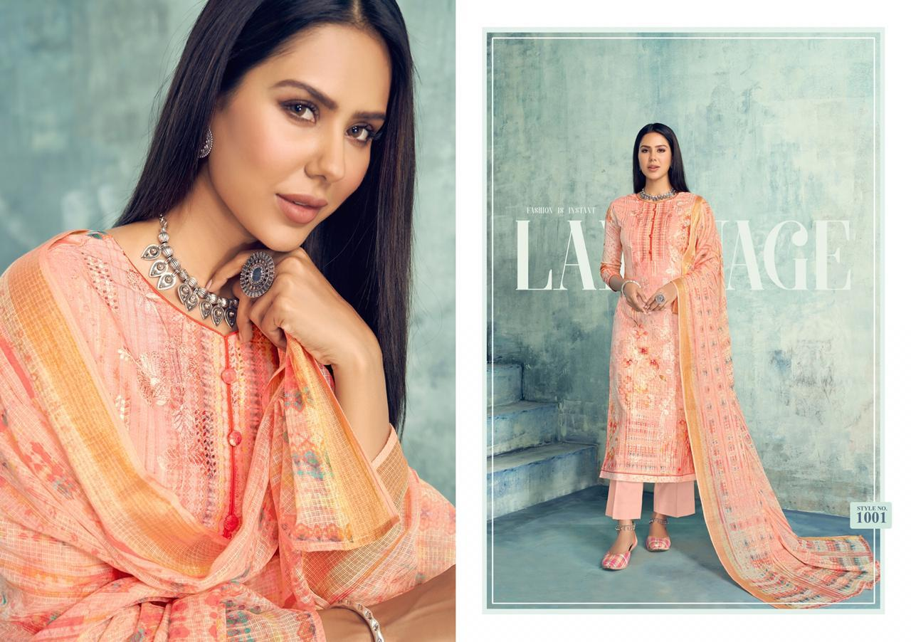 Muklawa By Karachi Prints 1001 To 1008 Series Beautiful Stylish Designer Printed And Embroidered Party Wear Occasional Wear Cotton With Slub Pattern Embroidery Dresses At Wholesale Price Reewaz International Wholesaler